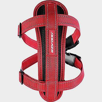 New EzyDog Chest Plate Dog Harness Red