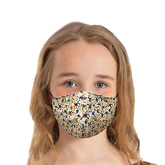 Cotton Face Mask/Triple layer Reusable covering for Childen and Adults - Liberty Fabric | Dancing