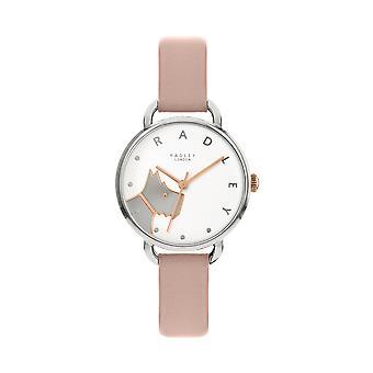 Radley Wood Street Ry2873 White Dial Leather Strap Ladies Watch