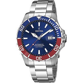 Festina F20531-5 Men's Automatic Steel Bracelet Wristwatch