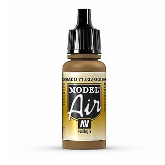 Vallejo Model Air 32 Golden Brown - 17ml Acrylic Airbrush Paint