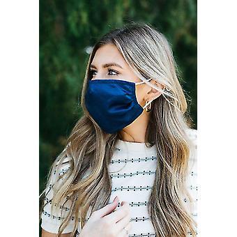 Medical masks navy wine satin face mask sm117133