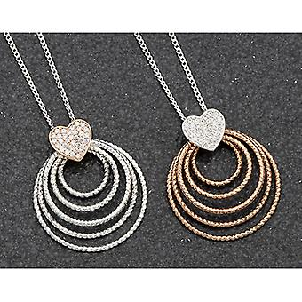Polished Two Tone Multi Circles Necklace