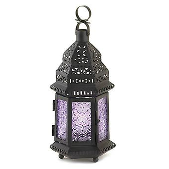 Gallery of Light Lavender Glass Moroccan Candle Lantern - 11 inches, Pack of 1