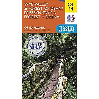 Wye Valley & Forest of Deane (OS Explorer Active Map)