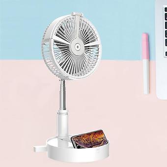 Ventiladores telescópicos portátiles USB ventilador recargable enfriador de aire con humidificación / lámpara de noche