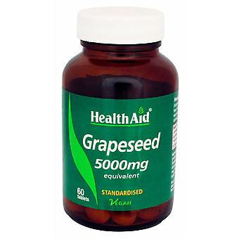 Health Aid Grapeseed Extract 100mg - Standardised, 60 Tablets