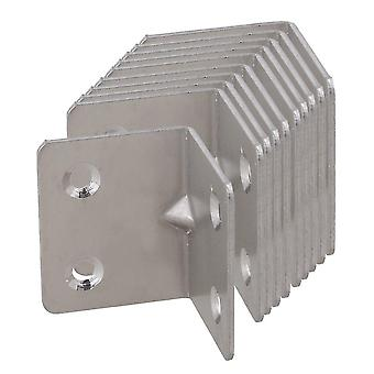 10Pcs right angle support shelf bracket joint corner brace l 38mm*31mm*1.4mm