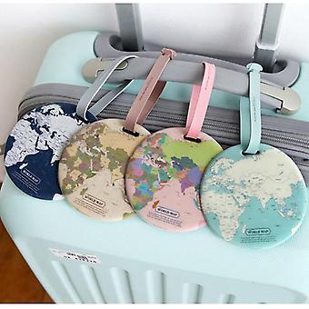 Fashion Creative Round World Map Luggage Tags