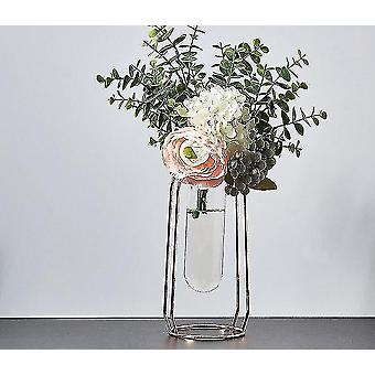 Vases nordic style gold plated eco friendly metal decor vases with flowers rose gold 24cm12