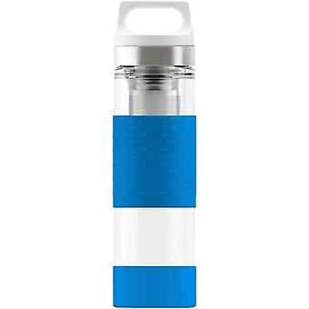 Sigg Hot and Cold Glass Electric Blue 0.4 L Stainless Steel Drinking Bottle 8775