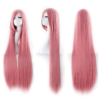 Womens Long 100cm Straight Cosplay Fancy Dress Party Wigs