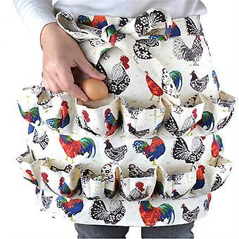 Mimigo Chicken Egg Collecting Apron,12 Deep Pockets Hen Duck Goose Eggs Holder Aprons