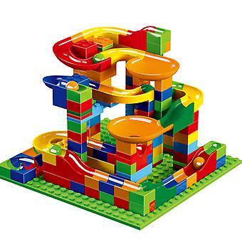 168pcs Marble Race Run Building Blocks Ball Slide Block With Base Creative Diy Toys