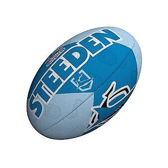 Steeden NRL Cronulla-Sutherland Sharksin kannattaja 2021 Rugby League Ball Blue