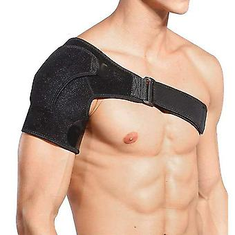 La sangle de soutien d'épaule noire s'adapte à gauche ou à droite pour le soutien de compression de prévention des blessures sportives