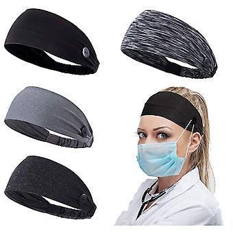 Womens Ponytail Headband Earband Winter Running Headband, 4pcs