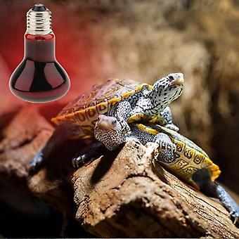 Aionyaaa Reptile Želva Obojživelná Noční světlo Infračervená lampa Uva E27 Topná lampa 40w