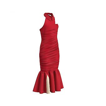 Halloween Kids Cruella De Vil Cosplay Costume Red Dress