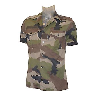 Franska armén militär utfärdade kort ärm skjorta