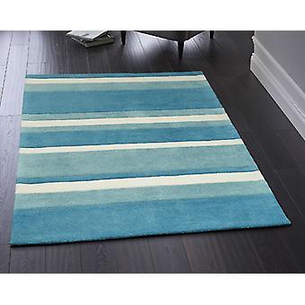 Boston Stripe Blue  Rectangle Rugs Plain/Nearly Plain Rugs