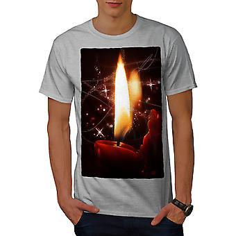 Weihnachten Kerze Männer graut-Hemd | Wellcoda