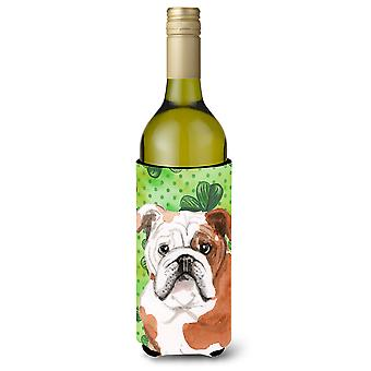 Inglês Bulldog St. Patrick garrafa de vinho Beverge isolador Hugger