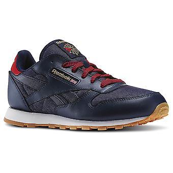 Reebok Navyredchalkgum CL kože DG N AR2042 univerzálne celoročné deti topánky