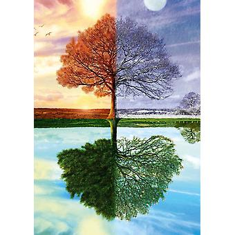Schmidt Season's Tree Jigsaw Puzzle (500 Pieces)