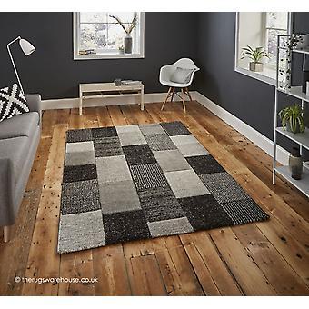 Palmoro grau schwarz Teppich