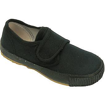 Mirak jongens 99248 sluiting Plimsoll Sneaker Trainer zwart (Med)
