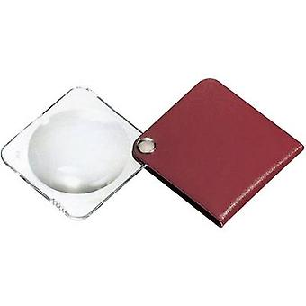 Eschenbach 1752160 Leather folding hand magnifier Magnification: 3.5 x Lens size: (Ø) 60 mm Red