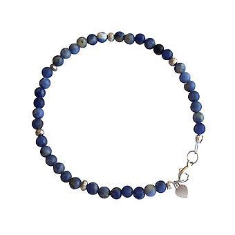 Gemshine - ladies bracelet - lapis lazuli - blue - 925 Silver - 4 mm