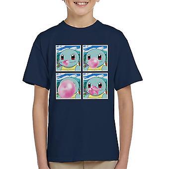 Schiggy Bubblegum Pokemon Kinder T-Shirt
