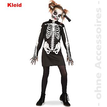 Crânio de esqueleto vestido de traje Zombie fantasia infantil de Halloween Kids