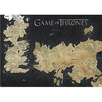 Game of Thrones Poster Die sieben Königslande Karte von Westeros. Riesenposter