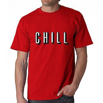Lustige Chill TV Filme Grafik T-Shirts für Herren rot