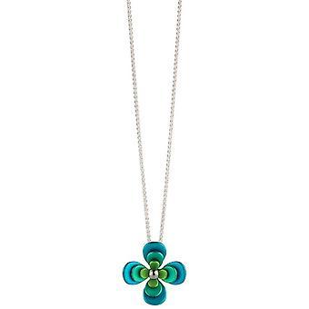 Ti2 titanio Triple cuatro pétalos flor colgante - verde