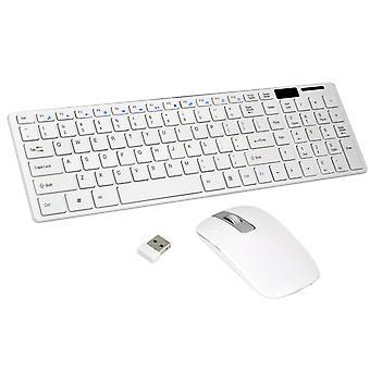TRIXES miejsce szary bezprzewodowa klawiatura idealna Cordless Optical Mouse zestaw dla laptopa