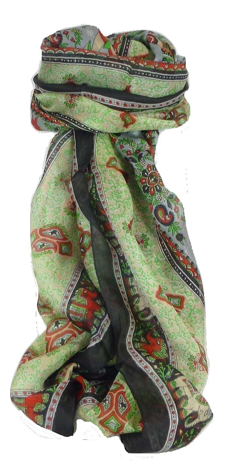Classic Paisley Long Scarf Mulberry Silk Golla Jet by Pashmina & Silk