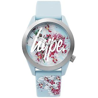 Hype | Ladies | Blue Silicone Strap | Floral Dial | HYL022US Watch
