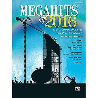 Megahits 2016:12 Pop, Country, Broadway och film Chartbusters (lätt Piano) (Megahits)