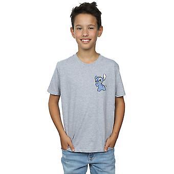 Disney pojkar Lilo och Stitch Stitch baksidan bröst tryckta T-Shirt
