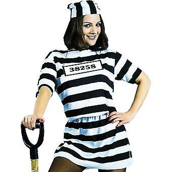 Więzień kobiece kostium dla dorosłych
