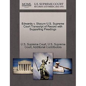 エドワーズ・ v ・スロカム米国最高裁判所による米最高裁判所の嘆願を支持する記録の成績証明書