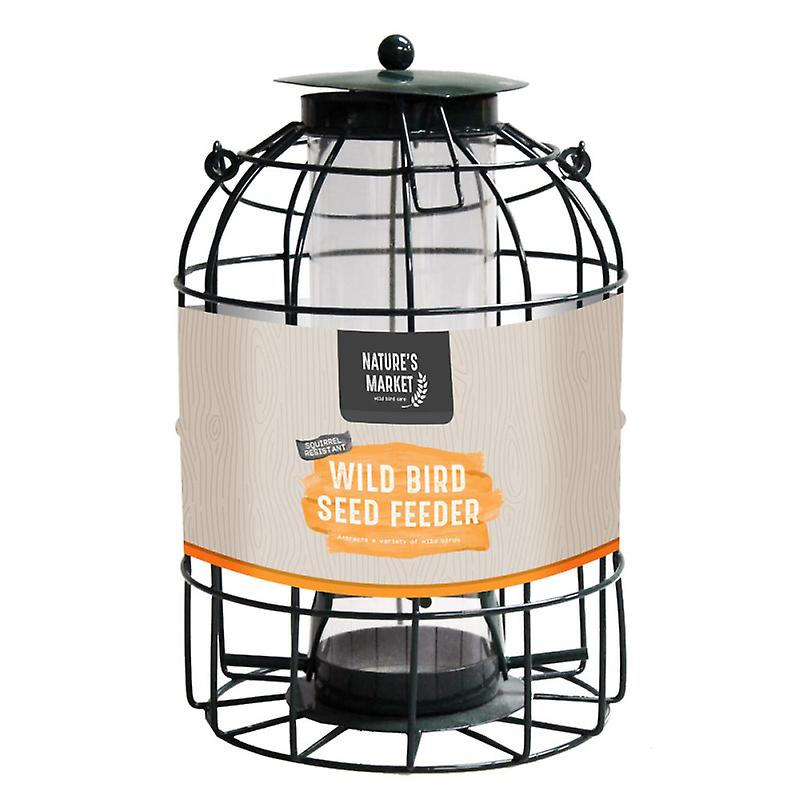 Natures Market BF008S Seed Feeder with Squirrel Guard