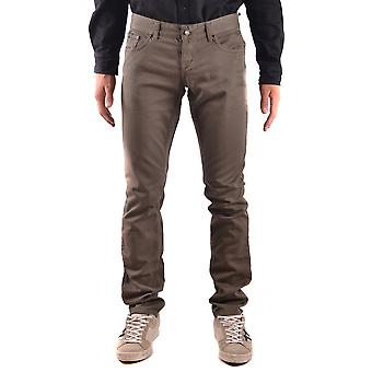 John Richmond Ezbc082049 Men's Grey Cotton Jeans