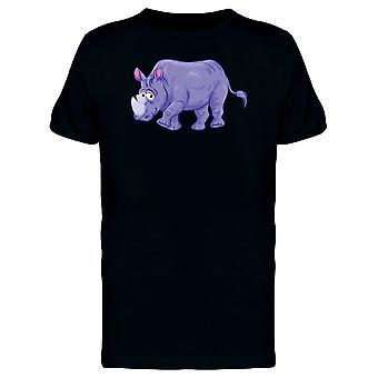 Lila Nashorn T-Shirt Herren-Bild von Shutterstock