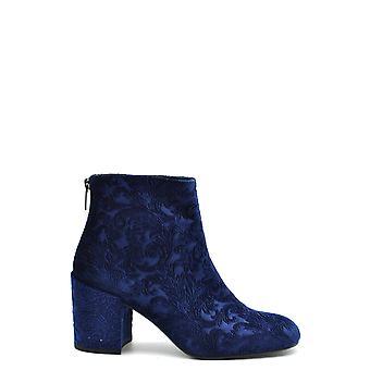 Stuart Weitzman Ezbc158002 Dames's Blue Velvet Ankle Boots