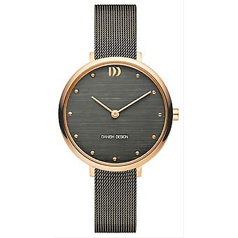 Montre pure Amelia design danois-gris/marron